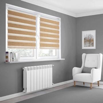 Ochre Day and Night Made to measure Roller Blinds in Croissant